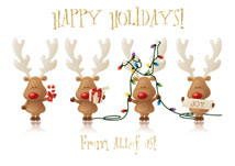 Cheery Reindeer Holiday Cards
